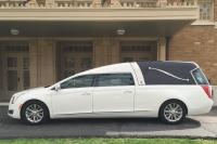 2016 Cotillion White Landaulet Black Top - New Hearse For Sale