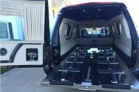 2016 Armbruster Stageway Crown Landaulet Hearse Rear Interior 7