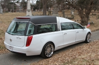2016 Armbruster Stageway Crown Regal Cotillion White New Hearse For Sale Chrome Wheels 2