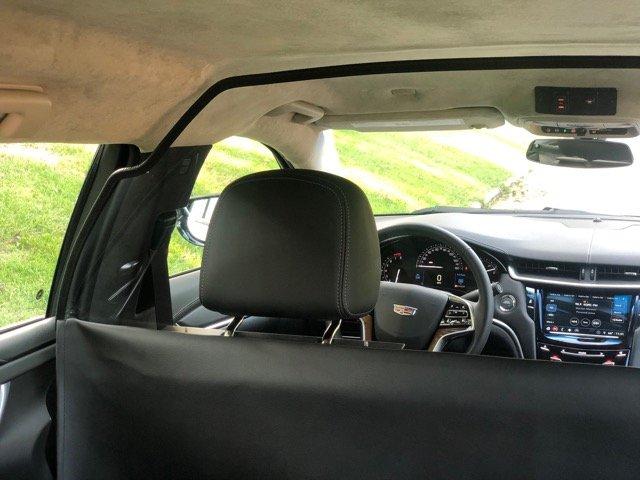 Limousine Partition - Limos For Sale - Close Up Of Driver's Side Headrest