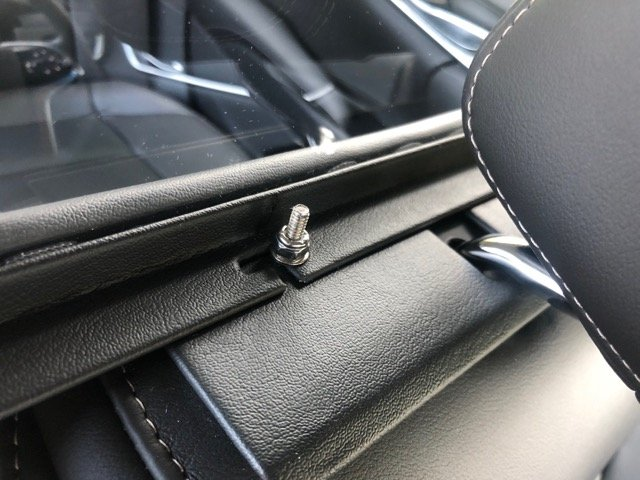 Limousine Partition - Limos For Sale - Close Up of Mounting Screw